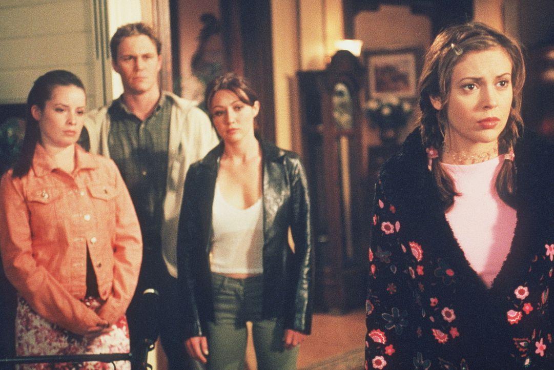 Zu ihrem Entsetzen muss Phoebe (Alyssa Milano, r.) entdecken, dass Cole Mitglied einer dämonischen Bruderschaft ist. Piper (Holly Marie Combs, l.),... - Bildquelle: Paramount Pictures