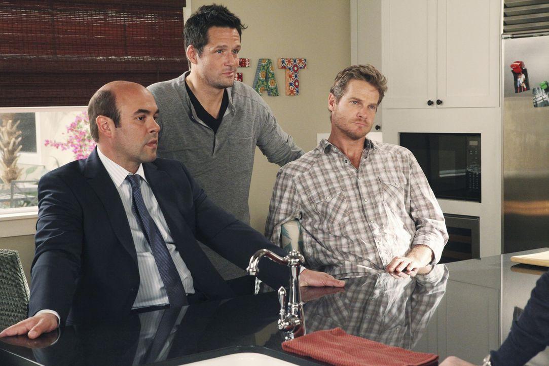 Liegt Liebe in der Luft? Grayson (Josh Hopkins, M.), Andy (Ian Gomez, l.) und Bobby (Brian van Holt, r.) ... - Bildquelle: 2009 ABC INC.
