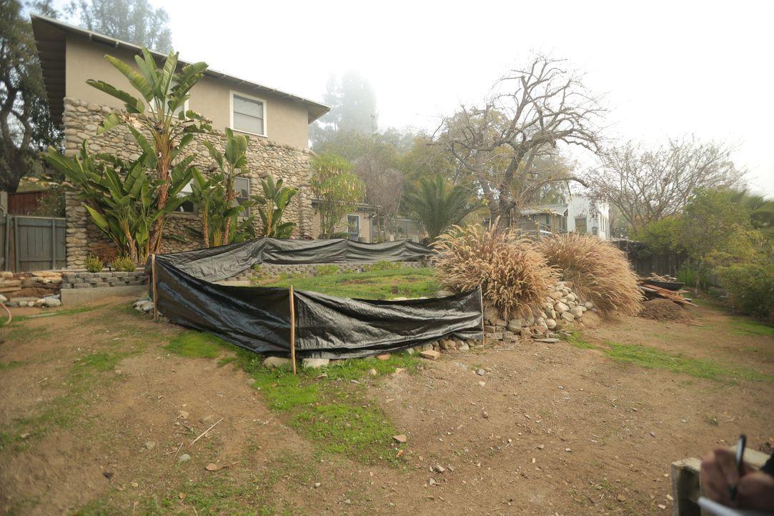 Wyatt und Shelly haben ihr Haus aus den frühen 1900er Jahren komplett renoviert, nur den Garten haben sie bisher vernachlässigt ... - Bildquelle: 2014, DIY Network/Scripps Networks, LLC. All RIghts Reserved.