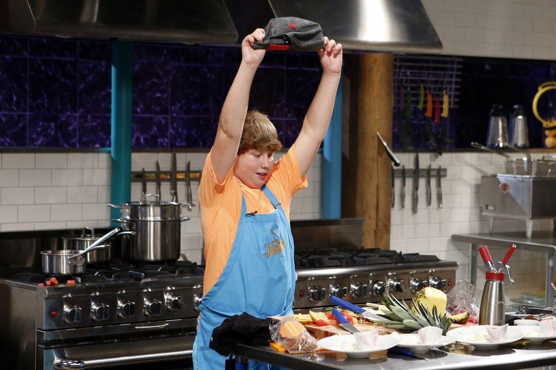 Der leidenschaftliche Junior-Koch Mark will mit seinen außergewöhnlichen Kochkünsten die anspruchsvolle Jury überzeugen. Wird er es bis zum Nachtisc... - Bildquelle: Jason DeCrow 2015, Television Food Network, G.P. All Rights Reserved