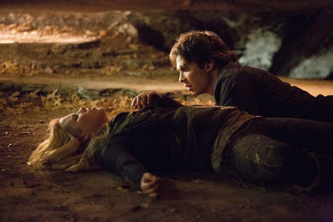 Nachdem der Weg zum Elixier so steinig war, wird es auch Damon (Ian Somerhalder, l.) und Rebekah (Claire Holt, l.) nicht so einfach gelingen, es an... - Bildquelle: Warner Brothers