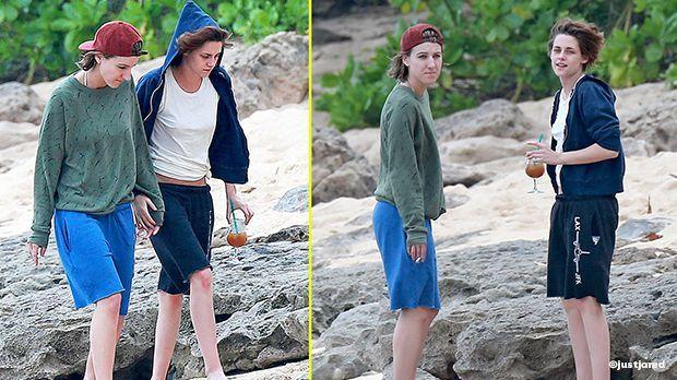 Kristen Stewart und Alicia Cargile auf Hawai - Artikelbild - Bildquelle: justjared