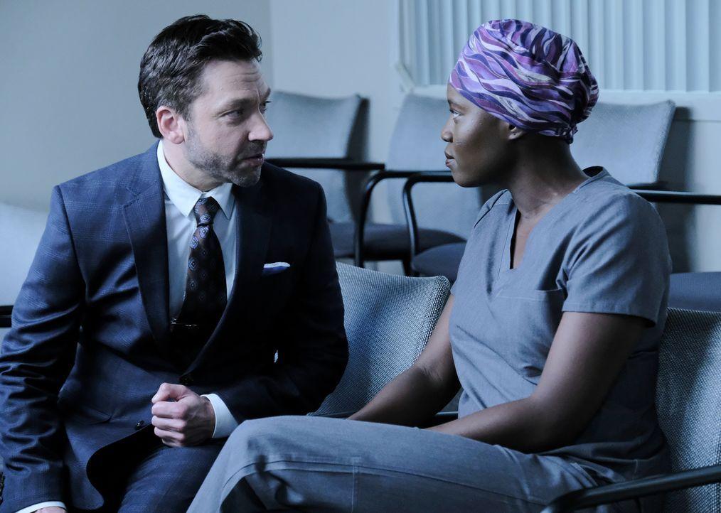 Gordon Page (Michael Weston, l.); Dr. Mina Okafor (Shaunette Renée Wilson, r.) - Bildquelle: Guy D'Alema 2018-2019 Twentieth Century Fox Film Corporation. All rights reserved. / Guy D'Alema