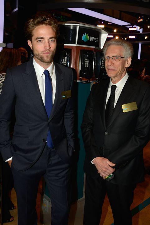 Robert Pattinson, David Cronenberg: Eröffnen Börse in New York - Bildquelle: AFP