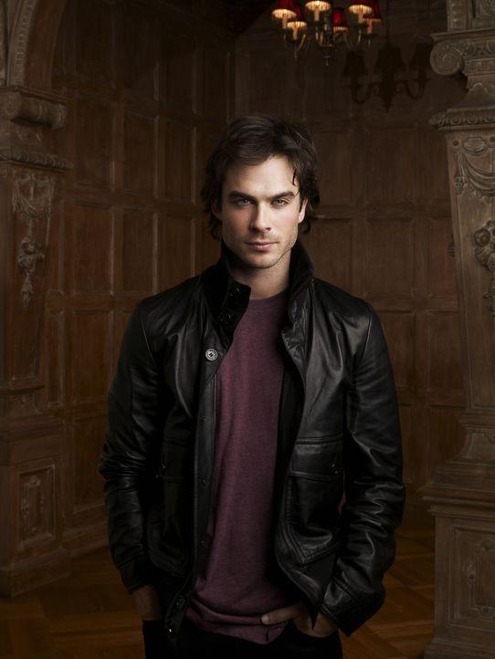 (1. Staffel) - Im Gegensatz zu seinem Bruder liebt Damon (Ian Somerhalder) das Töten von Menschen, um sich von ihnen zu ernähren. - Bildquelle: Warner Brothers