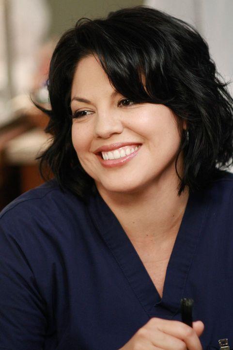 Lucy, Callies (Sara Ramirez) Gynäkologin, empfiehlt eine Fruchtwasseruntersuchung - Mark ist jedoch vehement dagegen ... - Bildquelle: ABC Studios