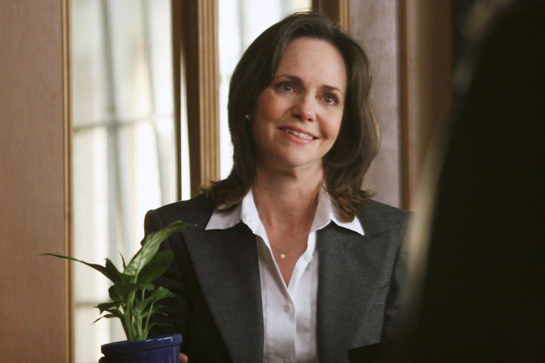 Bezieht ihren Schreibtisch in der Firma: Nora (Sally Field) ... - Bildquelle: Disney - ABC International Television