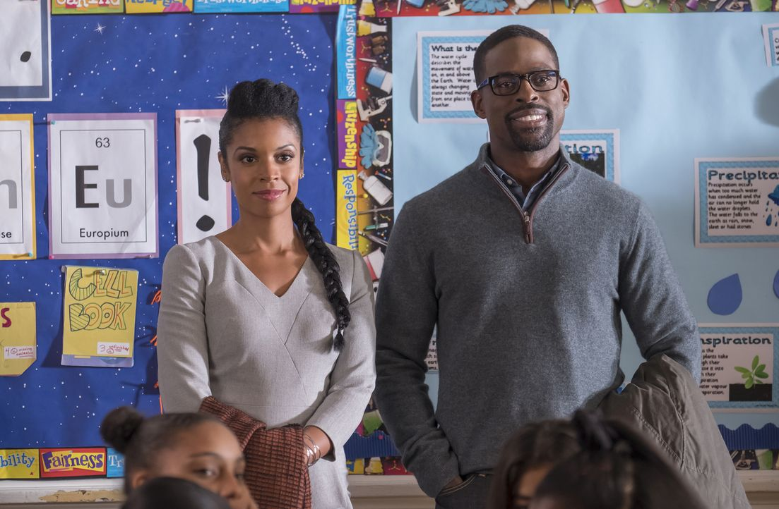 (v.l.n.r.) Beth Pearson (Susan Kelechi Watson); Randall Pearson (Sterling K. Brown) - Bildquelle: Ron Batzdorff 2017-2018 NBCUniversal Media, LLC.  All rights reserved./Ron Batzdorff