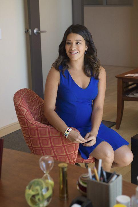 Ihre Karriere geht steil nach oben, jedoch ist sie skeptisch, da ihr in letzter Zeit einfach viel zu viele gute Sachen passiert sind: Jane (Gina Rod... - Bildquelle: 2014 The CW Network, LLC. All rights reserved.
