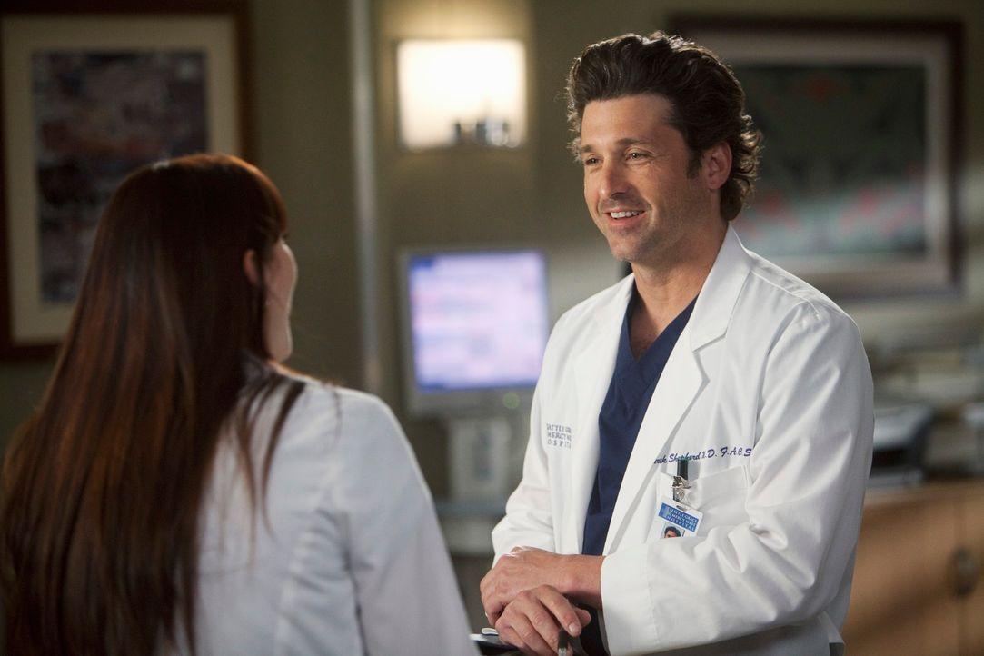 Während Lexie (Chyler Leigh, l.) erfährt, dass Mark mit Julia zusammenziehen möchte, machen Meredith Derek (Patrick Dempsey, r.) eine erschreckende... - Bildquelle: ABC Studios