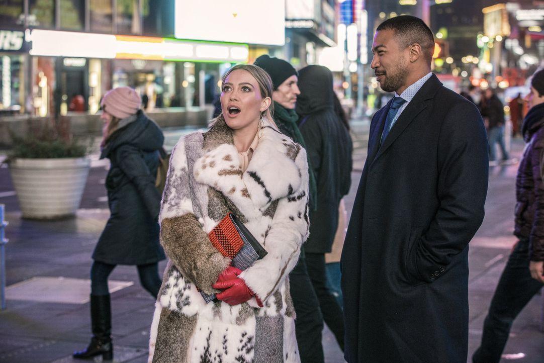 Kelsey Peters (Hilary Duff, l.); Zane Anders (Charles Michael Davis, r.) - Bildquelle: Zach Dilgard Hudson Street Productions Inc 2018 / Zach Dilgard