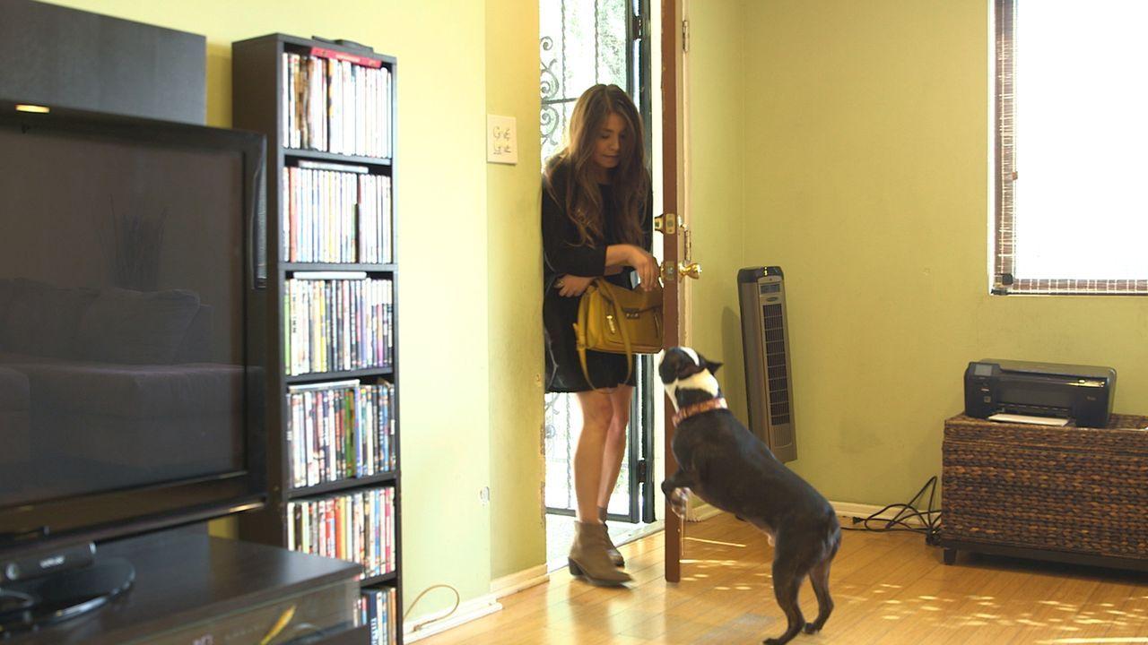 Die WG-Harmonie von Andrea, Erica und Sarah steht unter keinem guten Stern. Sarahs Hund Mose sorgt mit seiner extremen Energie immer wieder für Unmu... - Bildquelle: NGC/ ITV Studios Ltd