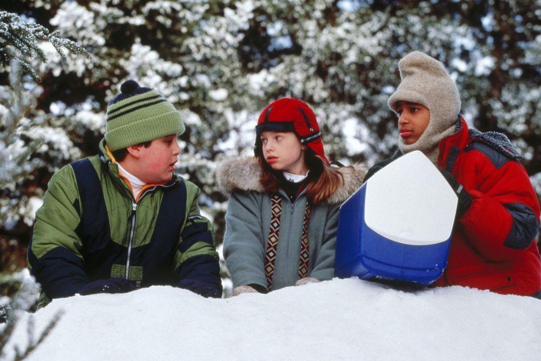 Die Stadt ist eingeschneit und deshalb ist heute schulfrei. Für die Freunde Wayne (Josh Peck, l.), Natalie (Zena Grey, M.) und Chet (Jade Yorker, r... - Bildquelle: Paramount Pictures
