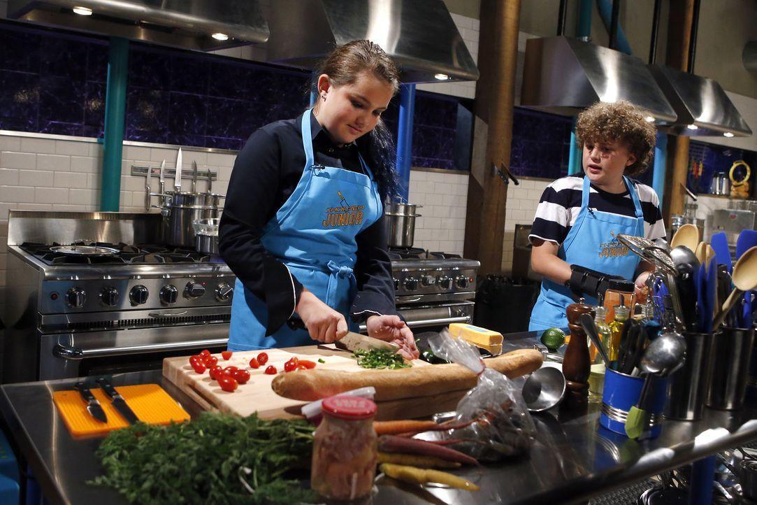 Treten bei Chopped gegeneinander an und müssen die Jury, bestehend aus Schauspielerin Elizabeth Chambers Hammer und der Köchinnen Amanda Freitag und... - Bildquelle: Jason DeCrow 2015, Television Food Network, G.P. All Rights Reserved