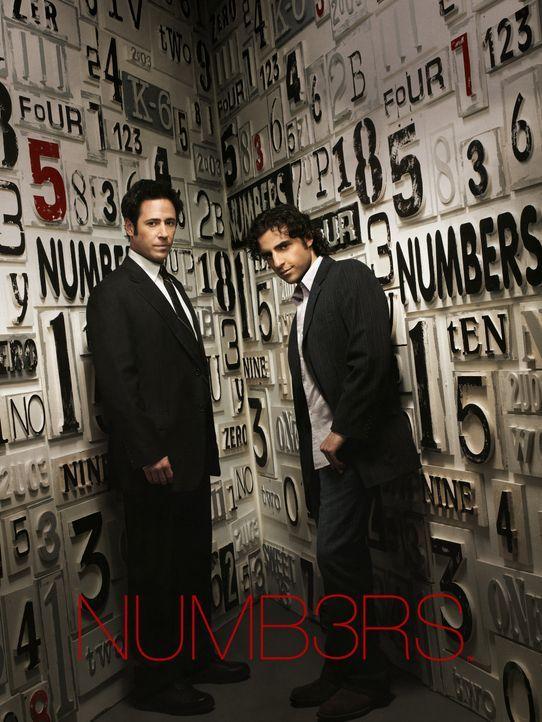 (3. Staffel) - Gemeinsam lösen die Brüder Don (Rob Morrow, l.) und Charlie (David Krumholtz, r.) Fälle des FBI - allerdings hochgradig wissenschaftl... - Bildquelle: Paramount Network Television