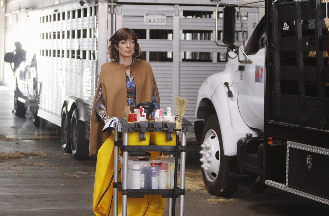 Nachdem die Putzfrau Nadia gestorben ist, muss Crystal (Allison Janney) höchstpersönlich Handanlegen ... - Bildquelle: Sony Pictures Television Inc. All Rights Reserved.
