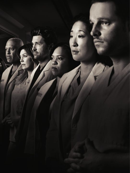 (7. Staffel) - Neues aus dem Seattle Grace Hospital: (v.l.n.r.) Dr. Webber (James Pickens, Jr.), Dr. Grey (Ellen Pompeo), Dr. Shepherd (Patrick Demp... - Bildquelle: ABC Studios