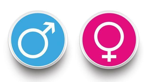 Geschlechter-Symbole für Frau und Mann