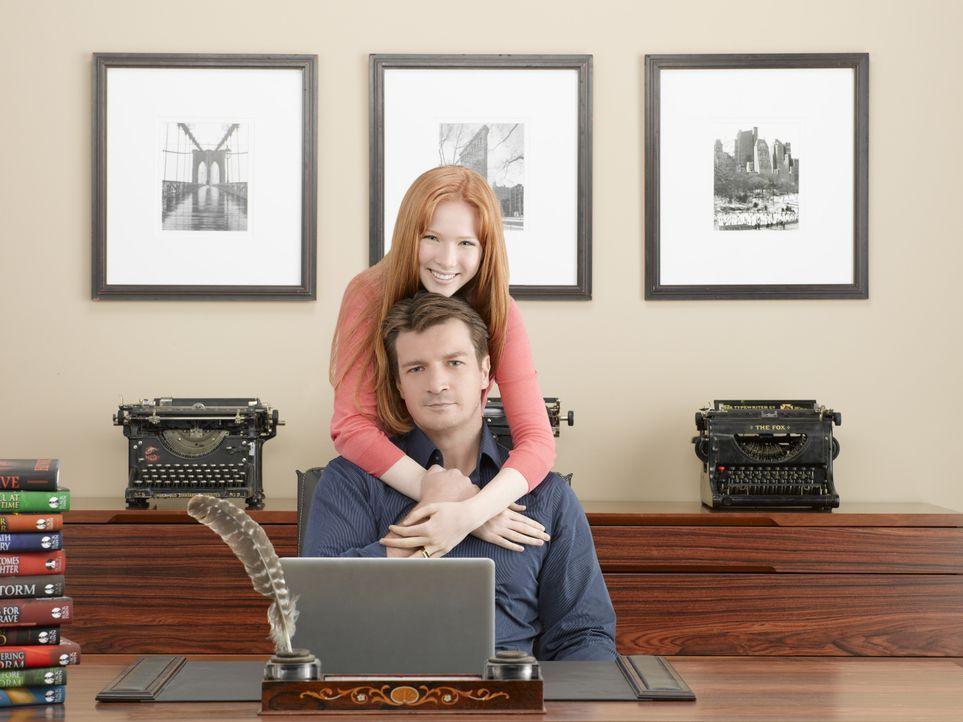 (2. Staffel) - Nach der Scheidung ihrer Eltern bleibt Alexis (Molly C. Quinn, oben) bei ihrem Vater (Nathan Fillion, unten). - Bildquelle: ABC Studios