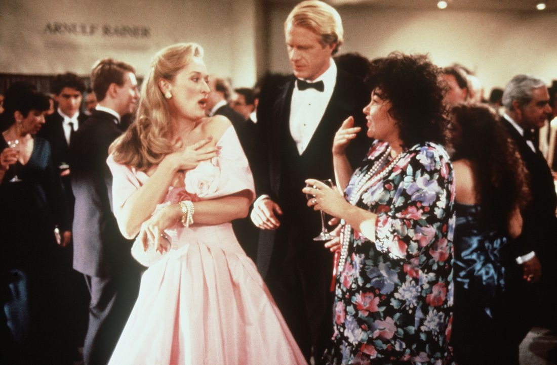 Schreckliche Überraschung: Mary (Meryl Streep, l.) und ihr neuer Freund (Ed Begley Jr., M.) begegnen auf einer Party Bobs Ehefrau Ruth (Roseanne Ba... - Bildquelle: 20th Century Fox