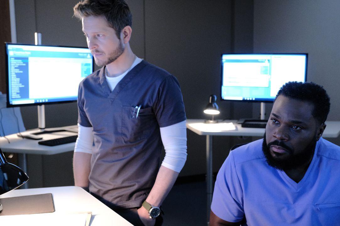 Dr. Conrad Hawkins (Matt Czuchry, l.); AJ Austin (Malcom-Jamal Warner, r.) - Bildquelle: Guy D'Alema 2019-2020 Twentieth Century Fox Film Corporation. All rights reserved. / Guy D'Alema