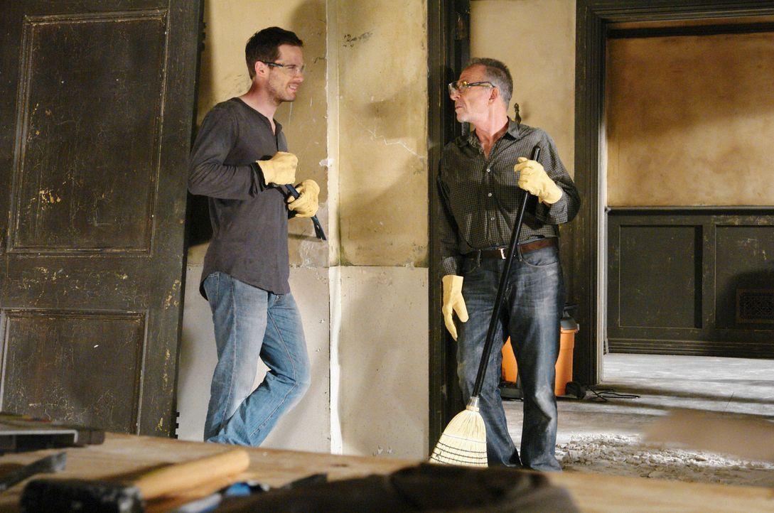 Machen widerwillig die Bauarbeiten an dem heruntergekommenen Haus mit: Scotty (Luke MacFarlane, l.) und Saul (Ron Rifkin, r.) ... - Bildquelle: 2008 ABC INC.