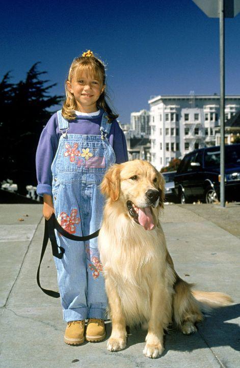 (5. Staffel) - Neue Herausforderungen warten auf Michelle (Mary-Kate/Ashley Olsen) und den Familienhund Comet ... - Bildquelle: Warner Brothers Inc.