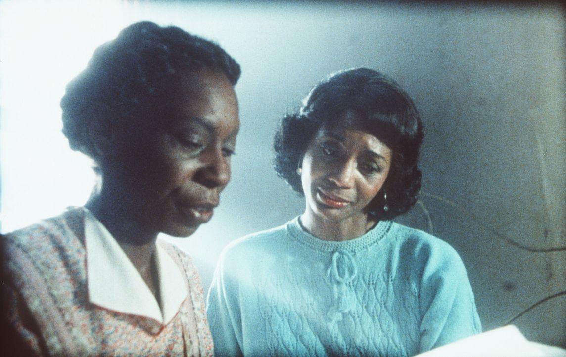 Nur weil Shug (Margaret Avery, r.) an Alberts Stelle den Briefkasten geleert hat, erhält Celie (Whoopi Goldberg, l.) nach Jahren zum ersten Mal ein... - Bildquelle: Warner Bros.