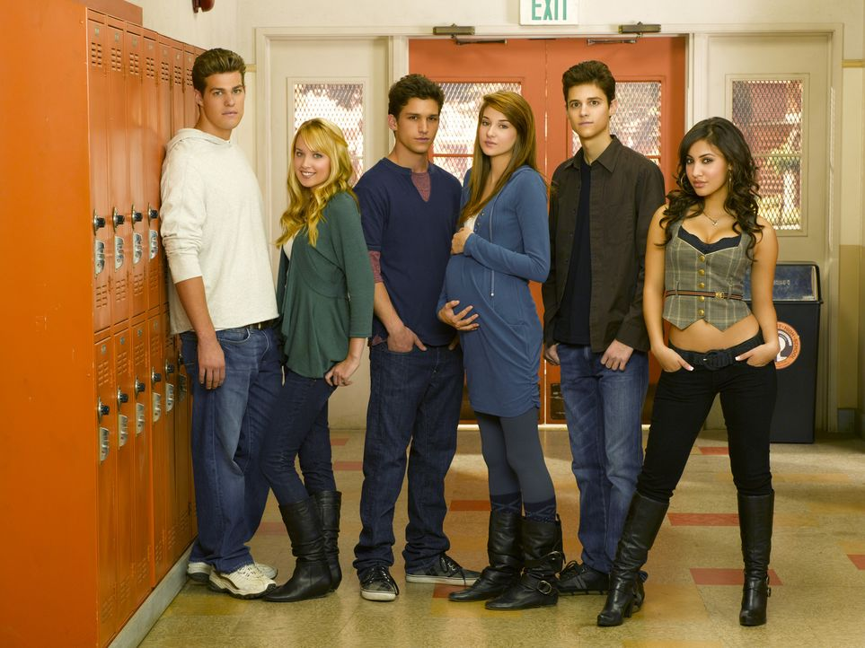 (2. Staffel) - Das Sex-Leben von Teenagern an einer High School und dessen Folgen (v.l.n.r.): Jack (Greg Finley), Grace (Megan Park), Ricky (Daren K... - Bildquelle: 2008 DISNEY ENTERPRISES, INC. All rights reserved. NO ARCHIVING. NO RESALE.