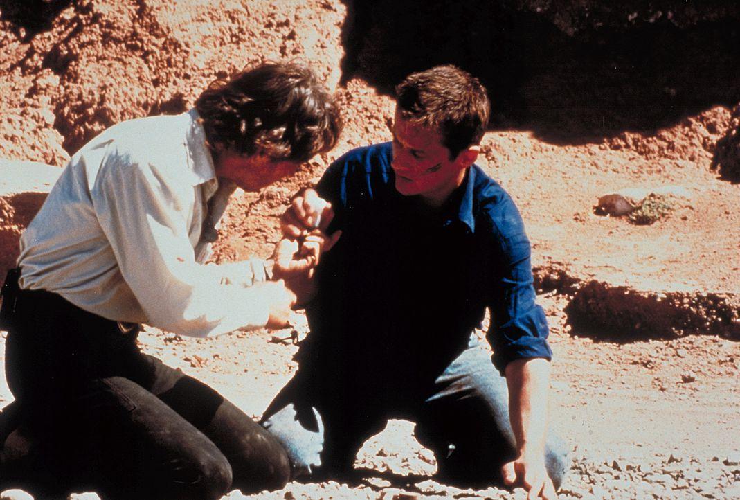 Auf der Tour zeigt Jan (Roman Knizka, r.) seinem Vater Marc (Peter Maffay, l.) deutlich, dass er ihm nicht verzeihen kann, von ihm als Kind verlasse... - Bildquelle: Heiko von Tippelskirch ProSieben