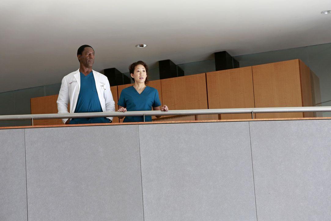 Durch die Begegnung mit Burke (Isaiah Washington, l.) überdenkt Cristina (Sandra Oh, r.) ihre Zukunft im Grey Sloan Memorial Hospital, während April... - Bildquelle: ABC Studios