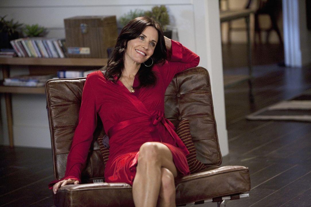 Hat Angst, Bobby von ihrer Beziehung mit Grayson zu erzählen: Jules (Courteney Cox) ... - Bildquelle: 2009 ABC INC.