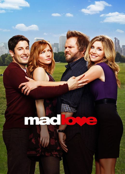 (1. Staffel) - Mad Love: (v.l.n.r.) Ben Parr (Jason Biggs), Connie Grabowski (Judy Greer), Larry Munsch (Tyler Labine) und Kate Swanson (Sarah Chalk... - Bildquelle: CPT Holdings, Inc. All Rights Reserved.