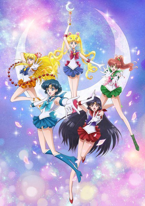 (im Uhrzeigersinn) Sailor Moon; Sailor Jupiter; Sailor Mars; Sailor Mercury; Sailor Venus - Bildquelle: Naoko Takeuchi/PNP/KODANSHA/TOEI ANIMATION