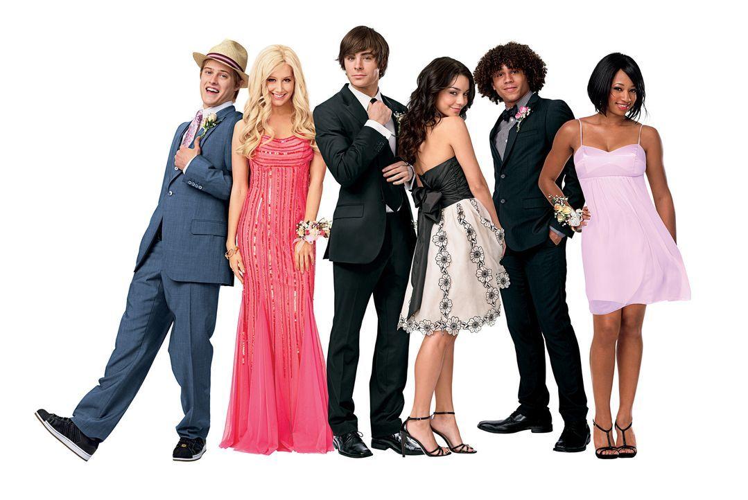 Der Abschluss steht kurz bevor, das heißt nicht nur, dass sich die Freunde (v.l.n.r.) Ryan (Lucas Grabeel), Sharpay (Ashley Tisdale), Troy (Zac Efro... - Bildquelle: Disney Enterprises, Inc.  All rights reserved.