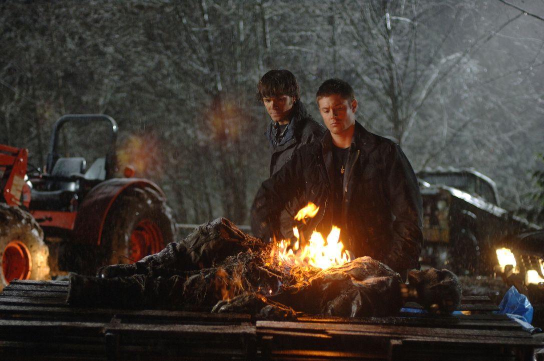 Um den Geist des mysteriösen Trucks vernichten zu können, müssen Sam (Jared Padalecki, l.) und Dean (Jensen Ackles, r.), einen Truck, der vor 40 Jah... - Bildquelle: Warner Bros. Television