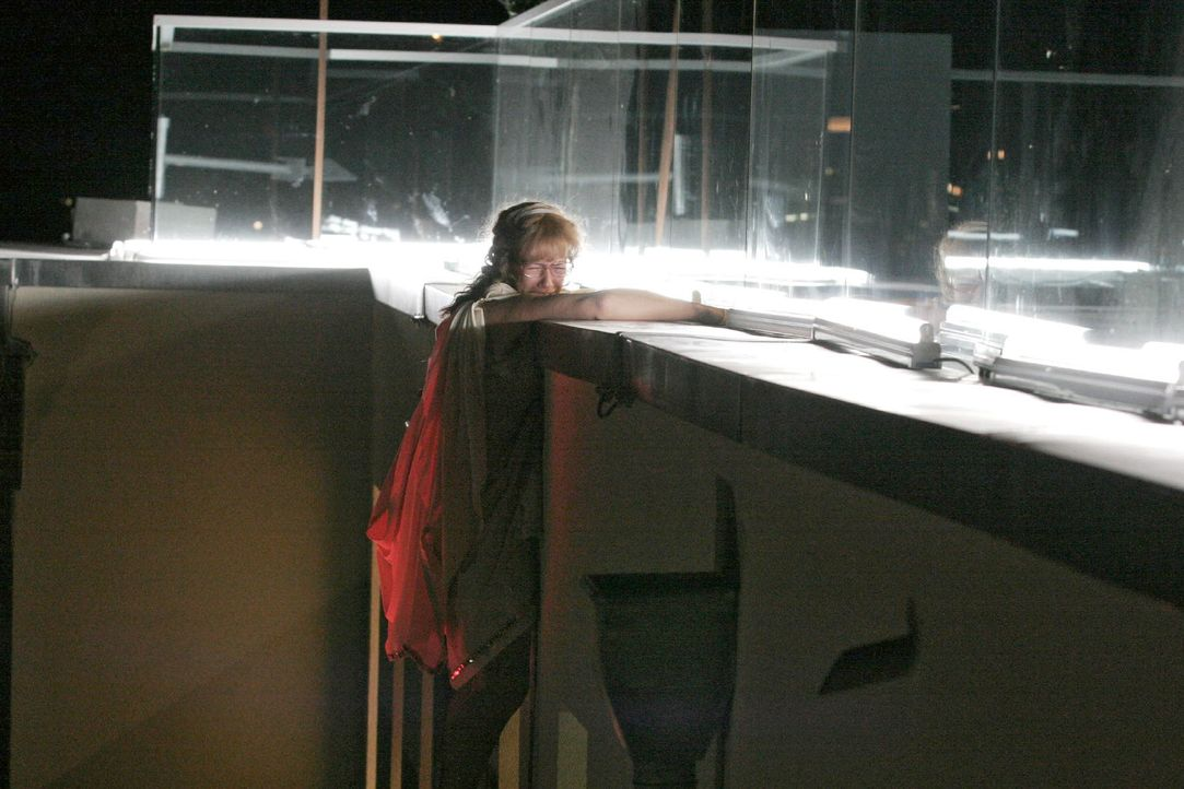 Beim Versuch, an die Kette zu gelangen, droht Lisa (Alexandra Neldel) abzustürzen ... (Dieses Foto von Alexandra Neldel darf nur in Zusammenhang mit... - Bildquelle: Noreen Flynn SAT.1 / Noreen Flynn