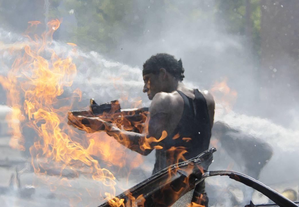 Zeigt Irving (Orlando Jones) eine Vision, zu was er werden wird, wenn es ihm nicht gelingen sollte, dem Reiter des Krieges zu entkommen? - Bildquelle: 2014 Fox and its related entities. All rights reserved.