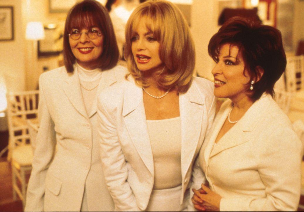 'Rache ist süß'! Brenda (Bette Midler, r.), Elise (Goldie Hawn, M.) und Annie (Diane Keaton, l.)  beschließen, ihre treulosen Männer gesellschaftlic... - Bildquelle: Paramount Pictures