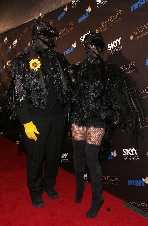 Heidi Klum: Halloween als Rabe - Bildquelle: AFP