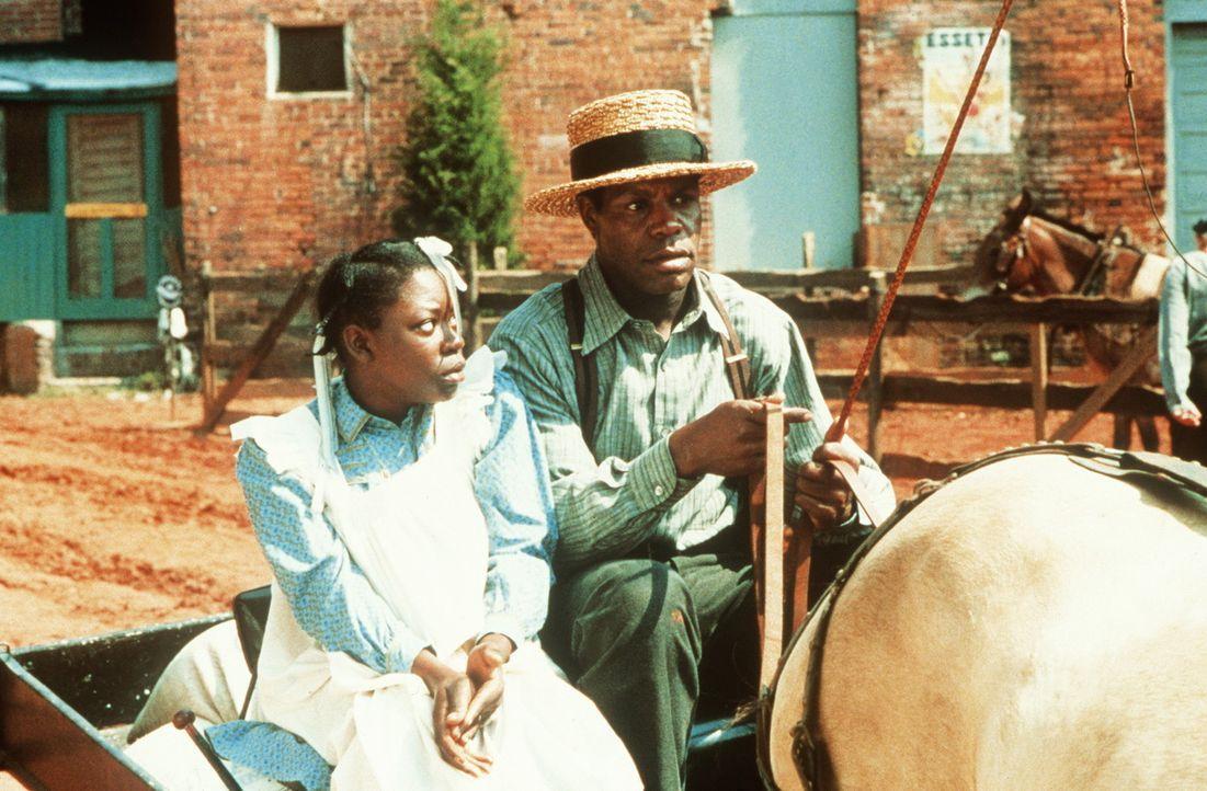 Als Celie (Desreta Jackson, l.) mit dem Witwer Albert (Danny Glover, r.) verheiratet wird, gehen Misshandlung und Demütigung für sie weiter ... - Bildquelle: Warner Bros.