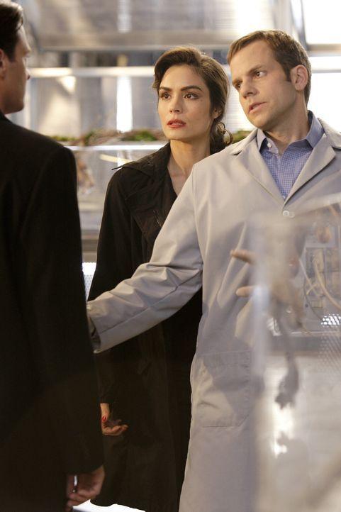 In dem Labor eines Wissenschaftlers (Jeremy Forte, r.) lauert der Vampir Lance (Jason Butler Harner, vorne) seiner Schwester Coraline (Shannyn Sossa... - Bildquelle: Warner Brothers
