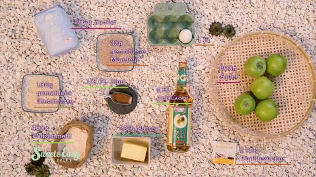 Apfel-Streuselkuchen Zutaten