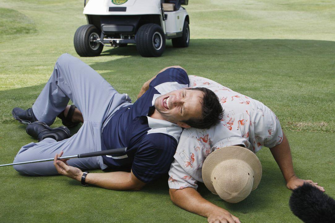 Was ist nur mit Grayson (Josh Hopkins, l.) und Andy (Ian Gomez, r.) geschehen? - Bildquelle: 2009 ABC INC.