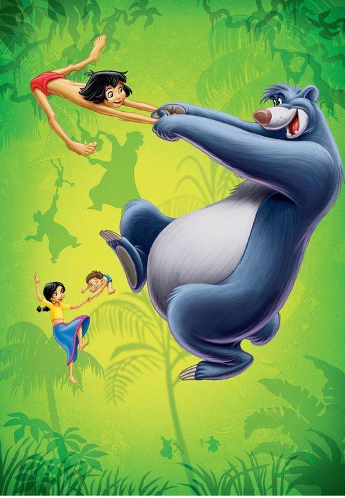 Erleben viele aufregende Abenteuer im Dschungel: Mogli (oben l.), Balu (r.), Shanti (unten l.) und Ranjan (unten r.) ... - Bildquelle: Disney Enterprises, Inc. All rights reserved.