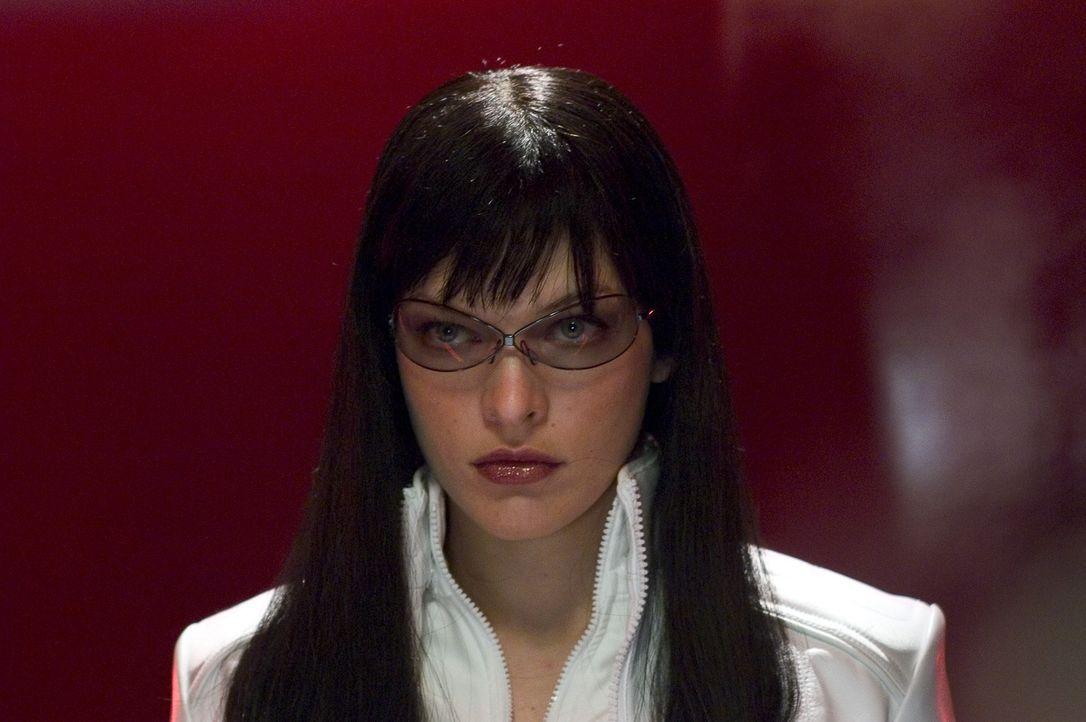 In ihrem unerbitterlichen Kampf gegen die Regierung deckt Violet (Milla Jovovich) ein unglaubliches Komplott auf, dessen Ausmaße sie zu verhindern v... - Bildquelle: 2006 Screen Gems, Inc. All Rights Reserved.