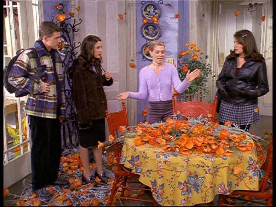 (v.l.n.r.) Harvey (Nate Richert), Valerie (Lindsay Sloane), Sabrina (Melissa Joan Hart) und Libby (Jenna Leigh Green) staunen über die vielen Mohnb... - Bildquelle: Paramount Pictures