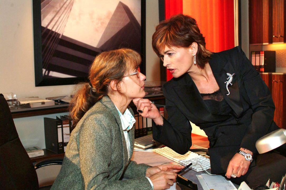 Lisa (Alexandra Neldel, l.) ist mit ihren Nerven am Ende, als Sophie (Gabrielle Scharnitzky, r.) ihr Gift versprüht. (Dieses Foto von Alexandra Neld... - Bildquelle: Noreen Flynn SAT.1 / Noreen Flynn