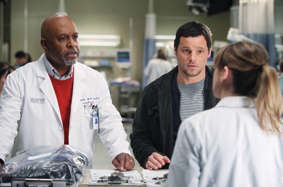 Sind besorgt um Adele Webber, die gerade ins Seattle Grace Hospital als Patient erschienen ist: Richard (James Pickens, Jr., l.), Alex (Justin Chamb... - Bildquelle: ABC Studios