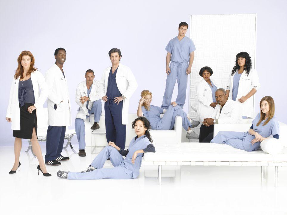 (3. Staffel) - Machen sie sich daran, den unberechenbaren Krankenhausalltag zu meistern: (v.l.n.r.) Dr. Addison Shepard (Kate Walsh), Dr. Preston Bu... - Bildquelle: Touchstone Television